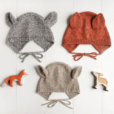 Wiksten - Baby + Child Animal Bonnet Knitting Pattern