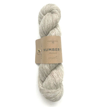 Garthenor No 1 - Laceweight (Organic Shetland in Ecru) - 50g