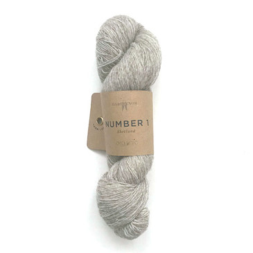 Garthenor No 1 - Laceweight (Organic Shetland in Pebble) - 50g