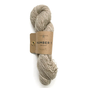 Garthenor No 1 - Laceweight (Organic Shetland in Fawn) - 50g