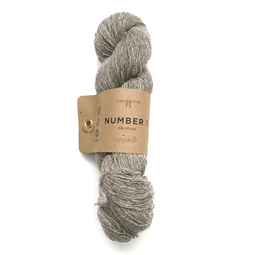Garthenor No 1 - Laceweight (Organic Shetland in Musket) - 50g