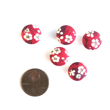 "Liberty Mitsi Valeria Red Button - 12 mm (~1/2"") - Exclusive!"