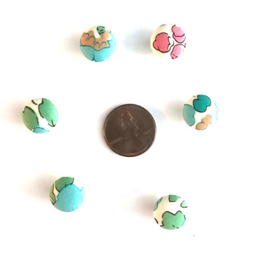 "Liberty Betsy Aqua Button - 12 mm (~1/2"") - Exclusive!"