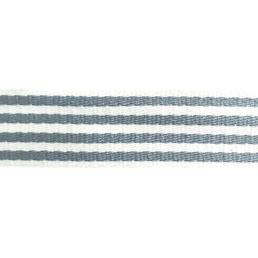 "1.5"" Skinny Stripe Webbing (Pebble Gray)"
