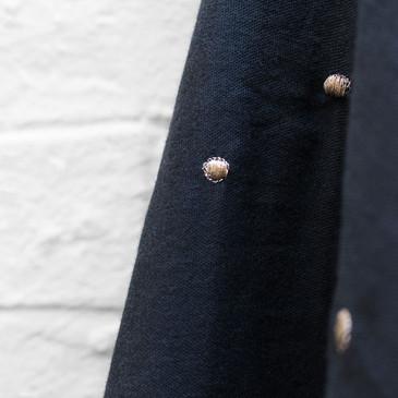 "Atelier Brunette - Stardust Night (Embroidered Double Gauze 54"")"
