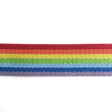"Seven Colour Rainbow Webbing (3.8 cm or 1.5"")"