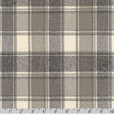 Robert Kaufman: Mammoth Flannel in Plaid Iron