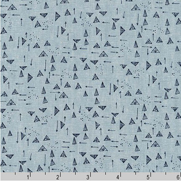 Robert Kaufman Forage by Noodlehead - Triangles in Chambray