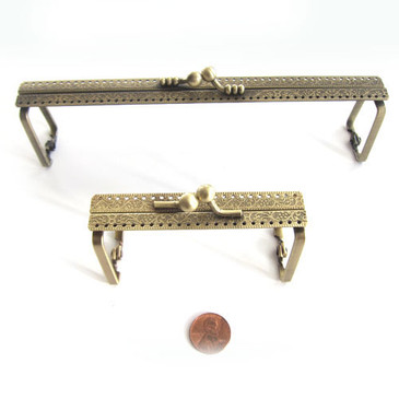 Antique Brass Barrel Purse Frame - 2 sizes