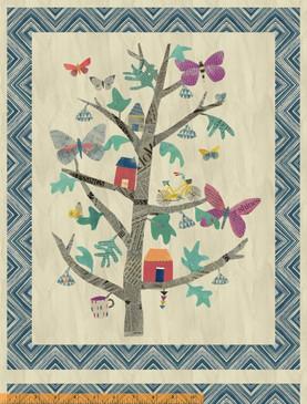 "Wonder by Carrie Bloomston - Tree of Wonder Panel (44x54"")"