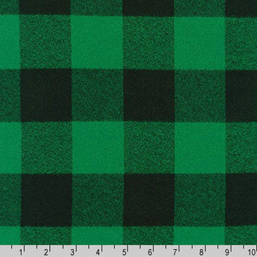 Robert Kaufman: Mammoth Flannel in Green