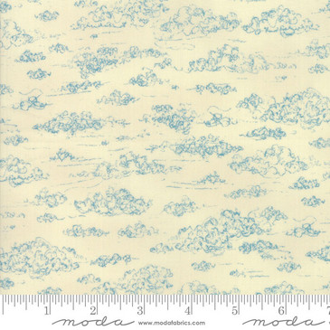 Moda - Weather Permitting by Janet Clare - Cumulus in Light Blue