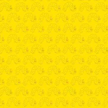 Andover - The Very Hungry Caterpillar 50th Anniversary - Caterpillar Crawl in Metallic Yellow