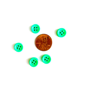 "Neon Green Button - 10 mm (.39"")"