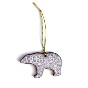 William Morris Polar Bear Ornament Charm