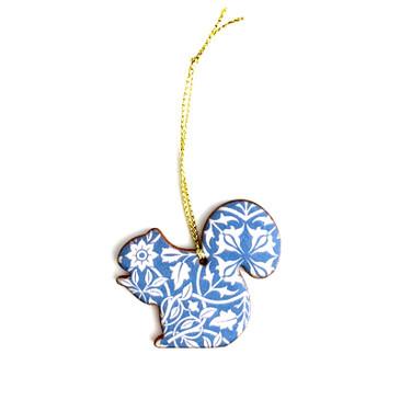 William Morris Squirrel Ornament Charm