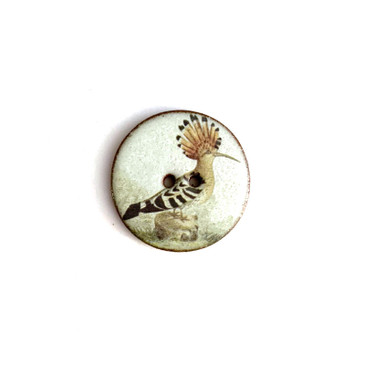 Nicobar Pigeon Ceramic Button - 1 and 1/16""