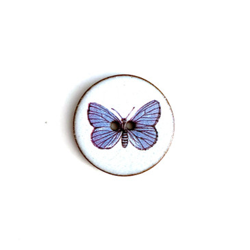 Butterfly Ceramic Button - 1 and 1/16""