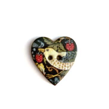 Strawberry Thief Ceramic Button