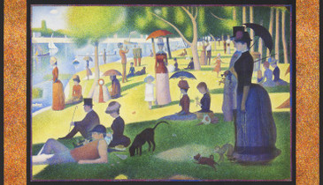 "Robert Kaufman: Seurat - Park PANEL (24"")"