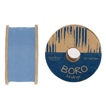 Boro Trim Twill Tape by Moda - Chambray - 2.25""