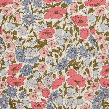 Liberty Poppy & Daisy C (Pink and Blue)