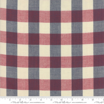 Moda: Vive La France by French General - Rouge Indigo Woven Check