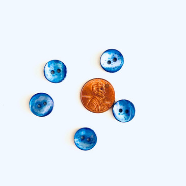 "Blue Abalone Button 12.5 mm (0.5"")"