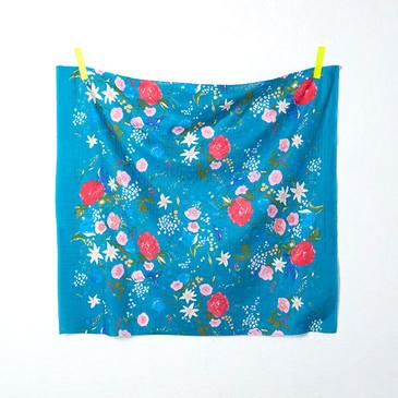 Nani Iro Fuccra Rakuen L - Turquoise (double gauze)