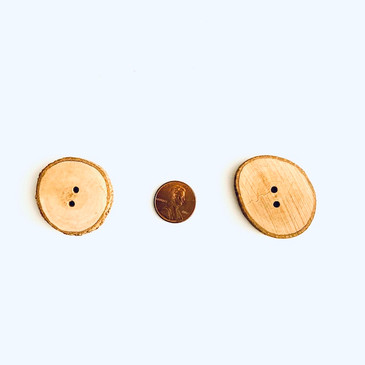 Wood Slice Buttons