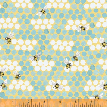 Windham: My Imagination by Clare Therese Gray - Bees in Aqua