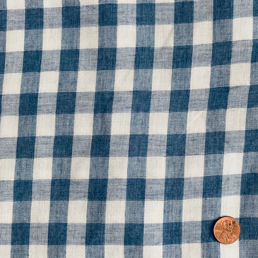 "Heathered Denim Gingham Double Gauze - 57"" wide"