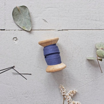 Atelier Brunette Bias Tape - Crepe Cobalt