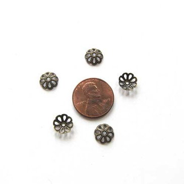 Filigree Antique Bronze Bead Caps (8mm)