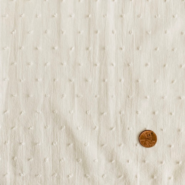 "White Swiss Dot III - (laundered) - 55"" wide"