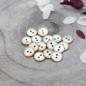Atelier Brunette - Glitz Button in Off-White (10 mm)