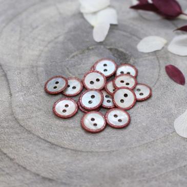 Atelier Brunette - Glitz Button in Terracotta (10 mm)