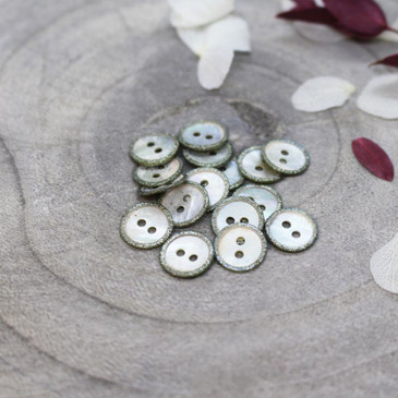 Atelier Brunette - Glitz Button in Sage (10 mm)