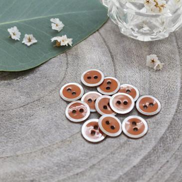 Atelier Brunette - Halo Button in Chestnut (10 mm)