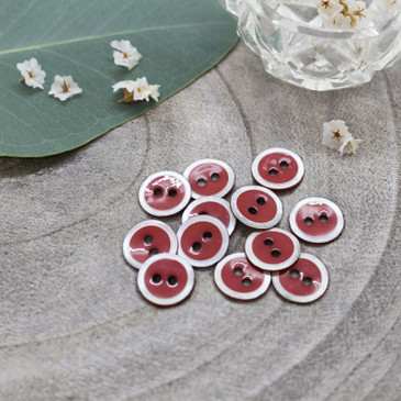 Atelier Brunette - Halo Button in Terracotta (10 mm)