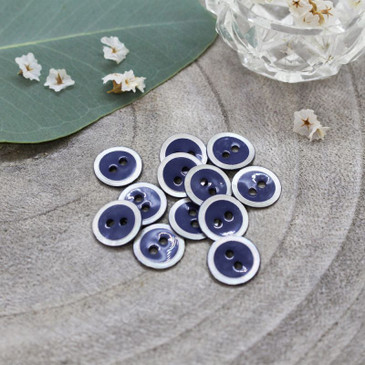 Atelier Brunette - Halo Button in Cobalt (10 mm)
