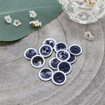 Atelier Brunette - Halo Button in Midnight (10 mm)