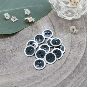 Atelier Brunette - Halo Button in Forest (10 mm)
