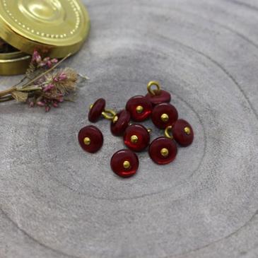Atelier Brunette - Jewel Button in Amaranthe (9 mm)