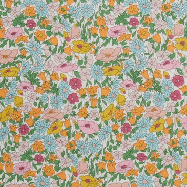 Liberty Poppy Forest A (Pink Blue Citrus)