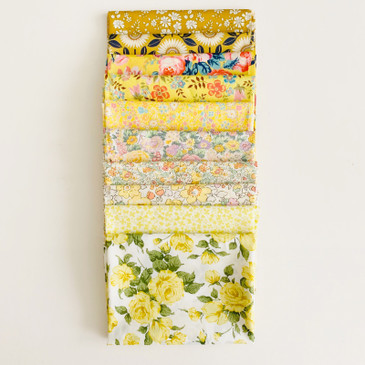 Liberty: Yippee for Yellow FQ Bundle (10 pcs)