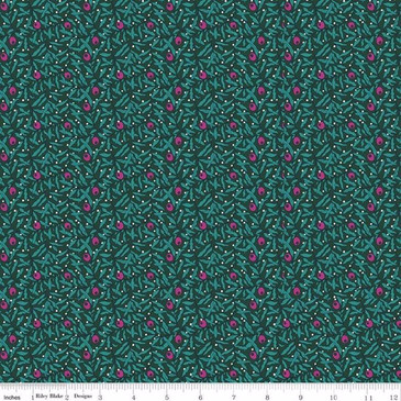 Liberty Quilting: Season's Greetings Collection - Holiday Berries (Magenta Green)