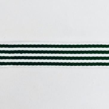 """1.5"""" Skinny Stripe Webbing (Forest Green)"""