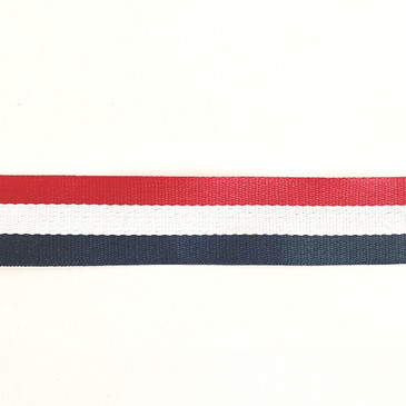 """Red White and Blue Webbing (1.5"""" or 3.8cm)"""
