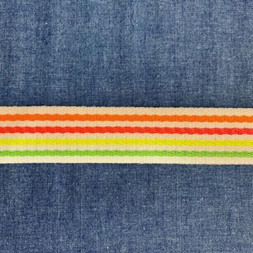 """Neon Multi Skinny Stripe (3.8 cm or 1.5"""")"""